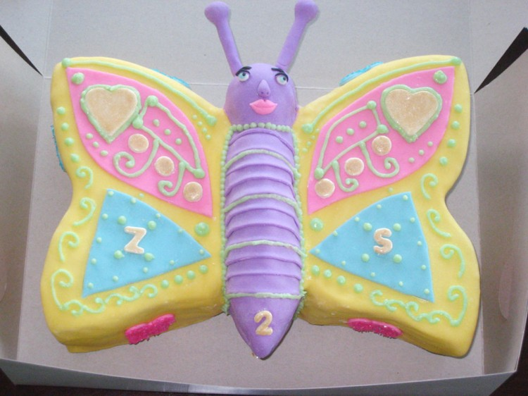 Cute Yellow Butterfly Birthday Cakes Picture in Birthday Cake