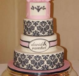 1024x1536px Damask Wedding Cake Designs Picture in Wedding Cake