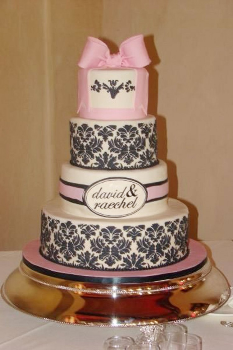 Damask Wedding Cake Designs Picture in Wedding Cake