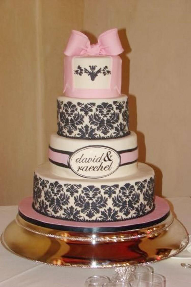 Damask Wedding Cake Designs Picture in Wedding Cake