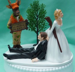 1024x1297px Deer Hunting Wedding Cake Toppers Picture in Wedding Cake
