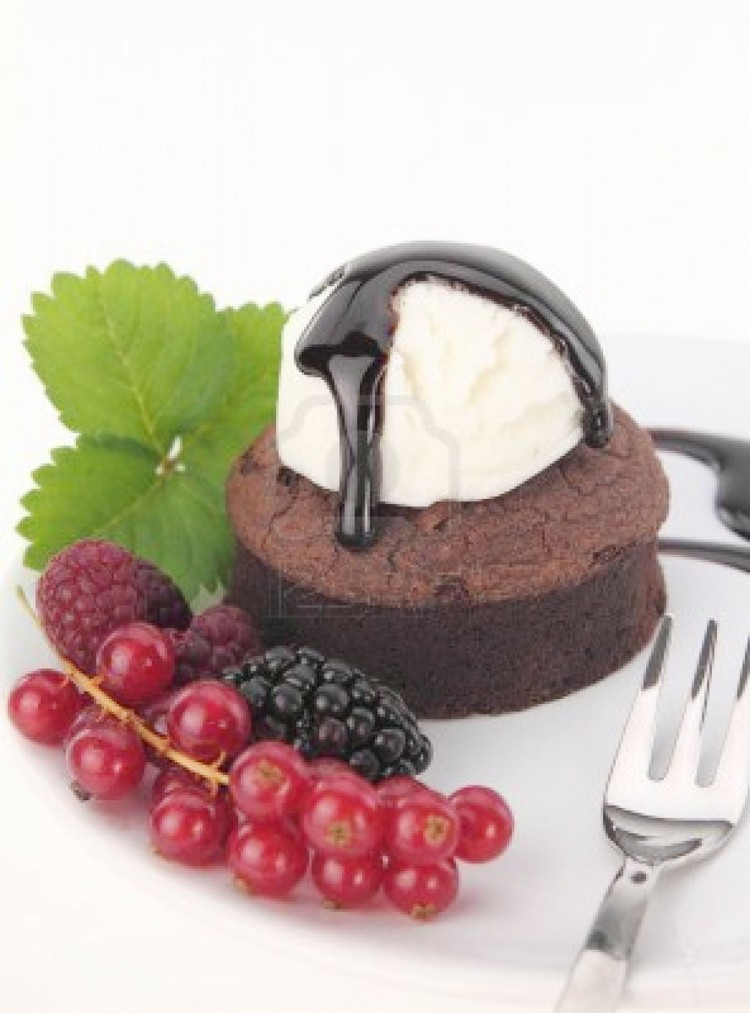 Delicious Dessert Chocolate Souffle Cake Picture in Chocolate Cake