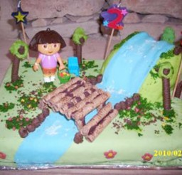 1024x768px Dora Birthday Cake Decorating Ideas Picture in Birthday Cake