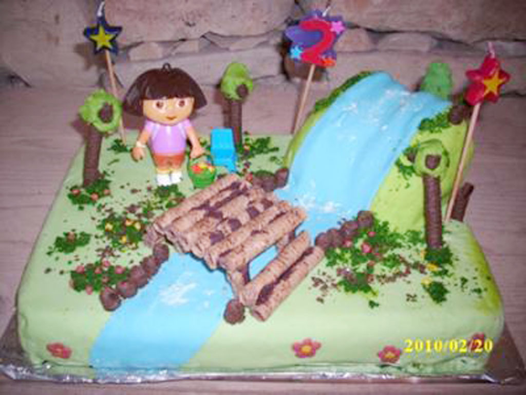 Dora Birthday Cake Decorations Image Inspiration of Cake and