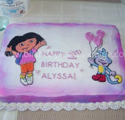 1024x768px Dora Birthday Cake Decorations Picture in Birthday Cake