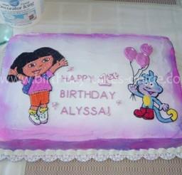 1024x768px Dora Birthday Cake Decorations Picture in Birthday Cake