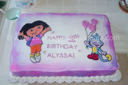Dora Birthday Cake Decorations Birthday Cake Cake Ideas by