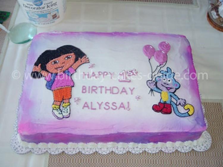 Dora Birthday Cake Decorations Picture in Birthday Cake