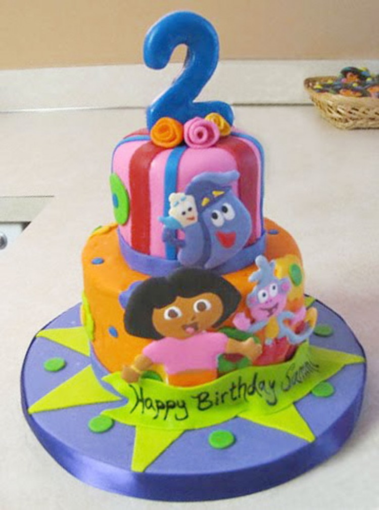 Dora Birthday Cake Designs Picture in Birthday Cake