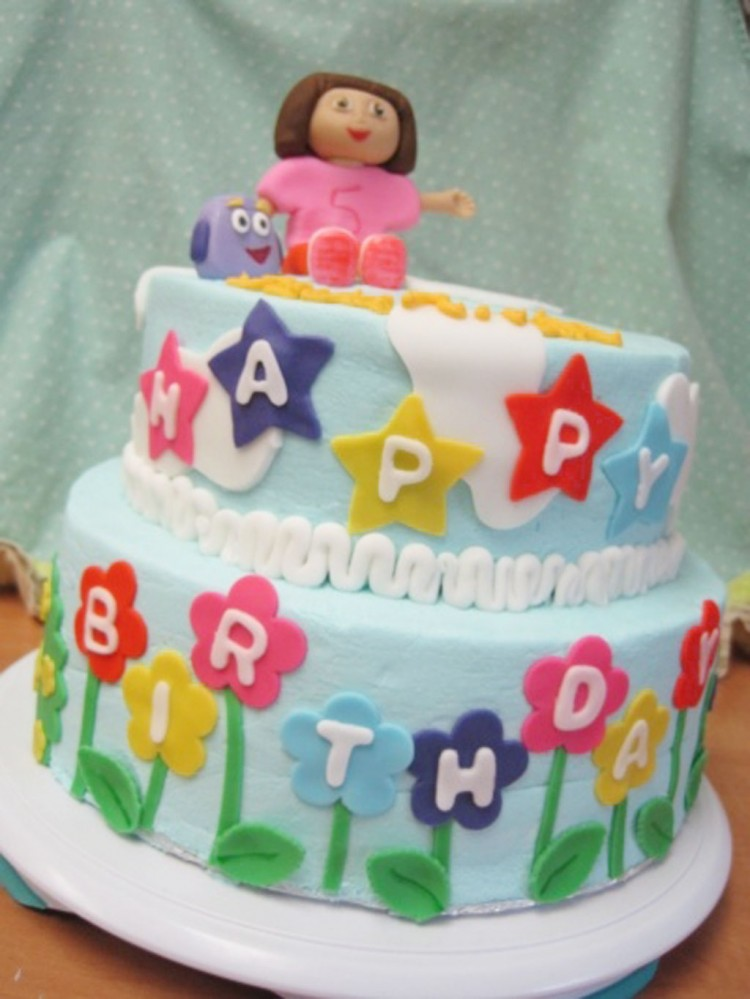 Dora Birthday Cake Ideas Picture in Birthday Cake