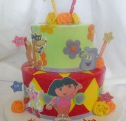 1024x1365px Dora Birthday Cake Pic Picture in Birthday Cake
