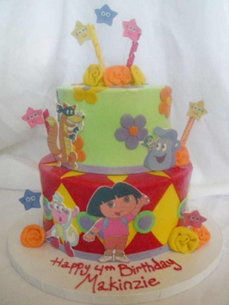 Dora Birthday Cake Pic Picture in Birthday Cake