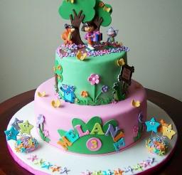 1024x1142px Dora Birthday Cake Pics Picture in Birthday Cake