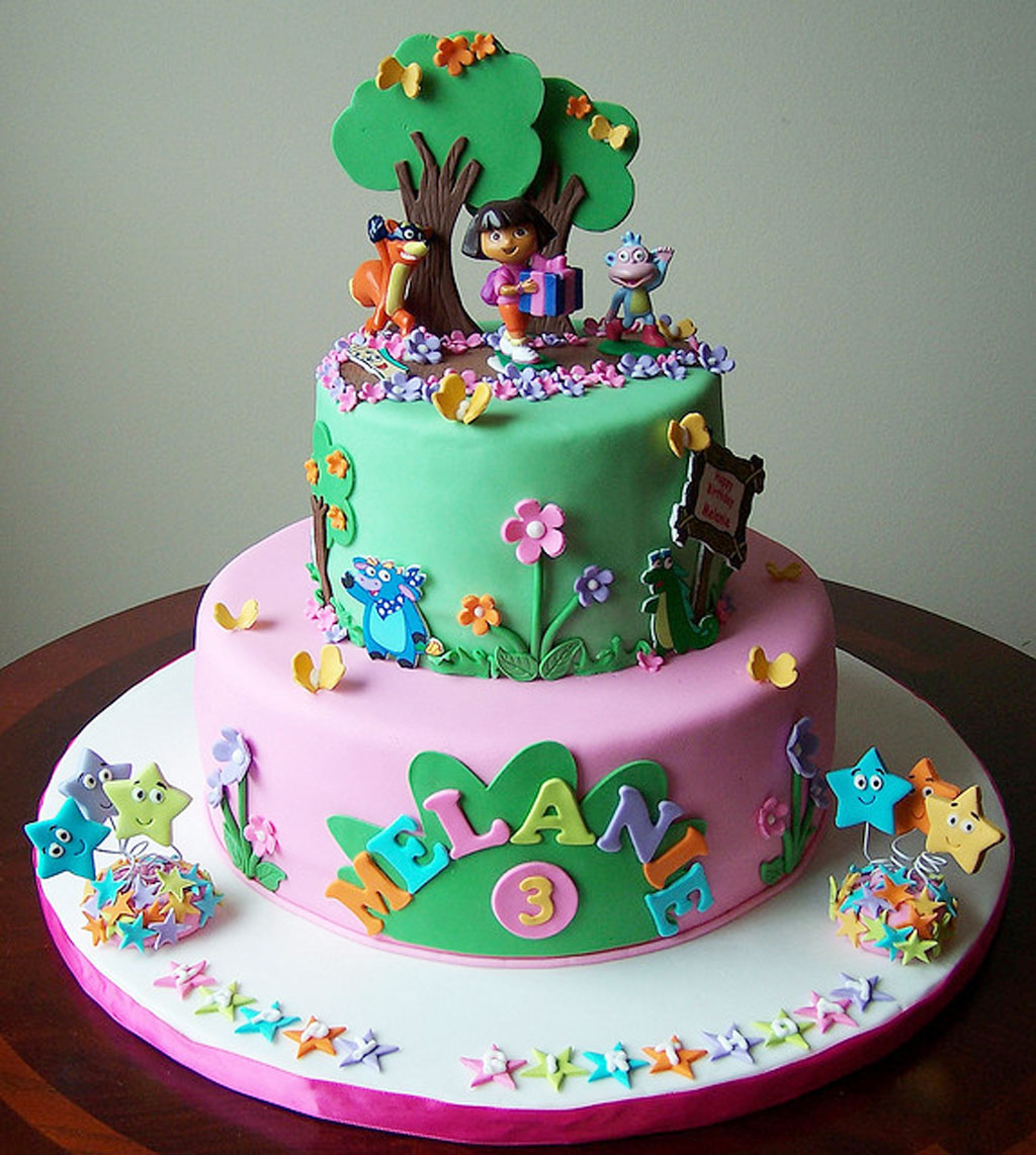 Dora Party Cake Design Dmost for