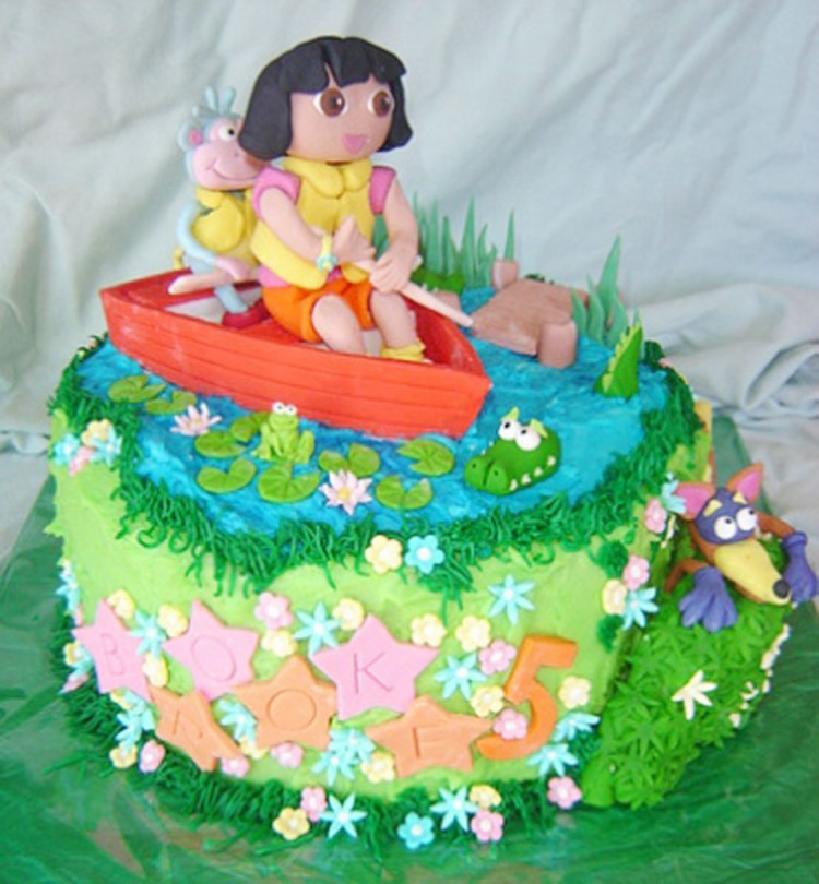 Dora Birthday Cupcakes Ideas Picture in Birthday Cake