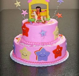 1024x1343px Dora The Explorer Birthday Cake Design Picture in Birthday Cake