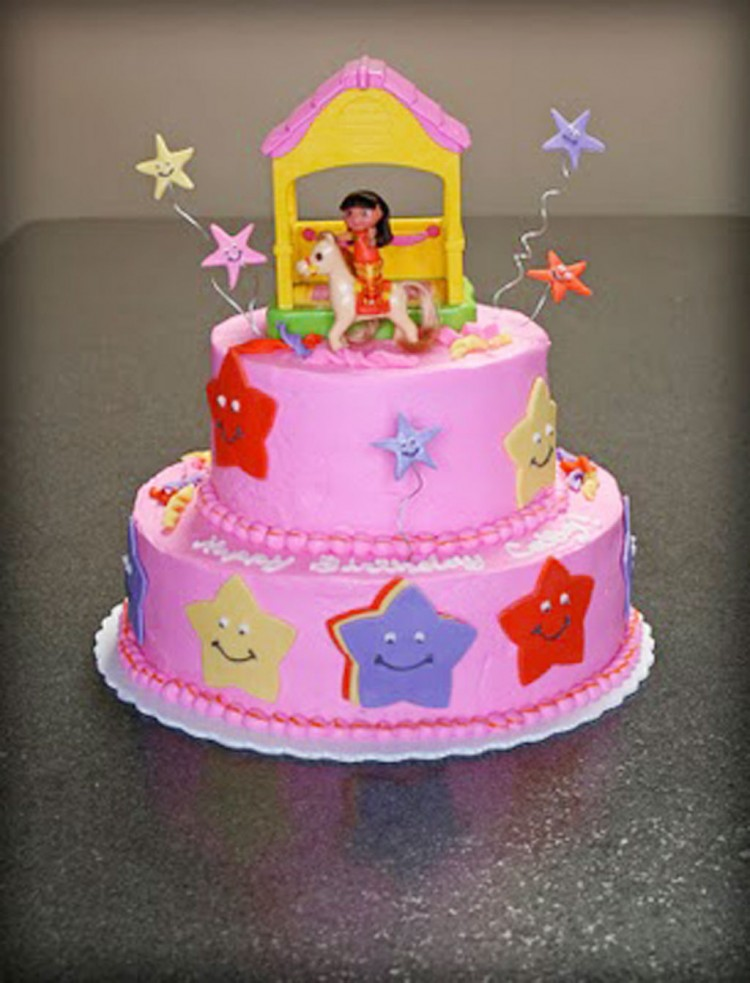 Dora The Explorer Birthday Cake Design Picture in Birthday Cake