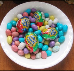 1024x867px Easter Chocolate Candy Eggs Picture in Chocolate Cake