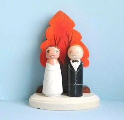 1024x1026px Fall Tree Wedding Cake Topper Picture in Wedding Cake