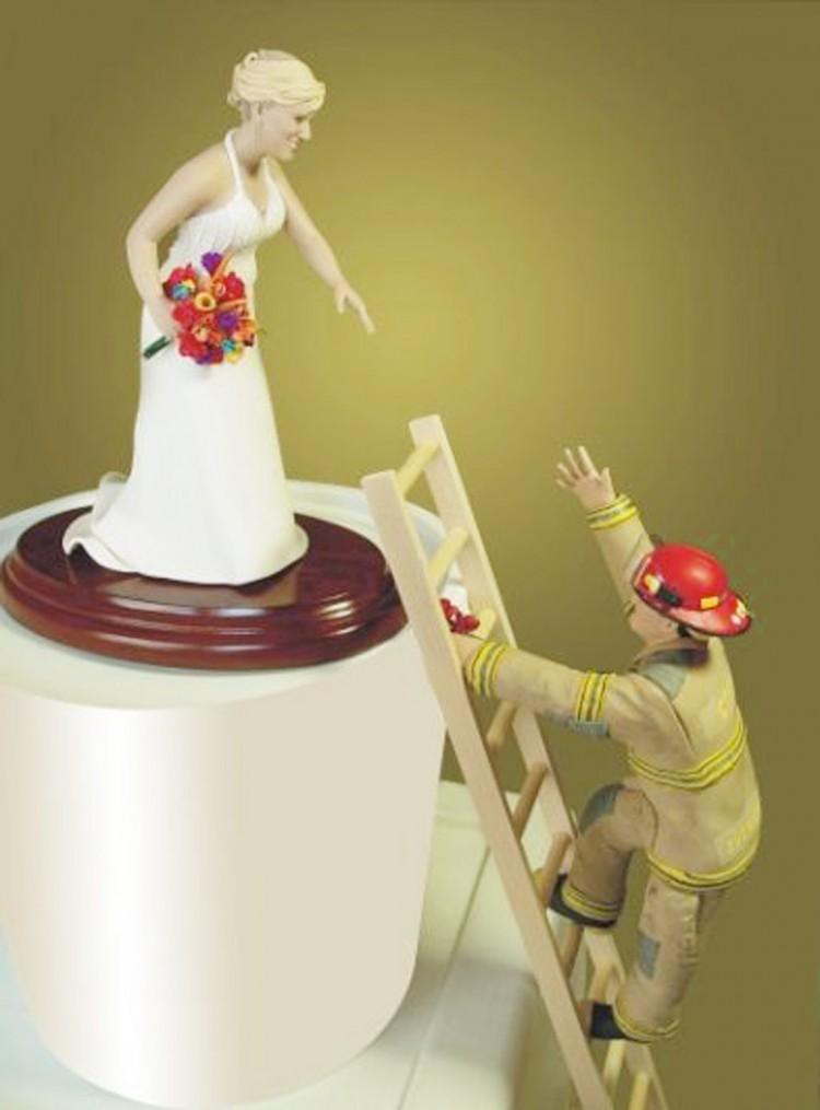 Firefighter Cake Toppers For Wedding Cakes Picture in Wedding Cake
