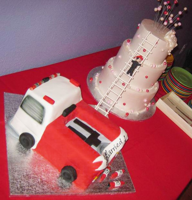 Firefighter Wedding Cakes Ideas Picture in Wedding Cake