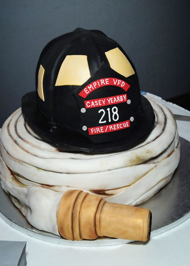 Fireman Wedding Cakes Picture in Wedding Cake