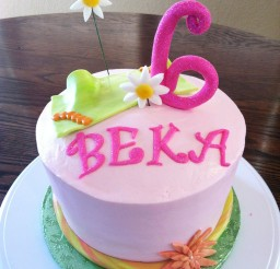 1024x1371px Flower Birthday Cake For Kids Picture in Birthday Cake