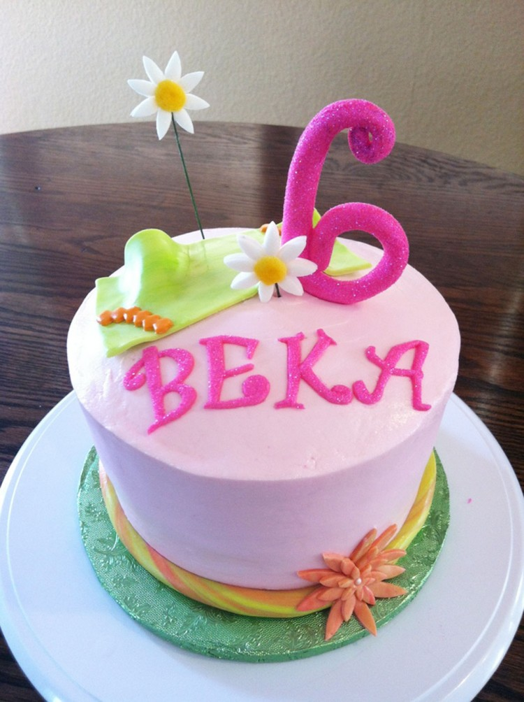 Flower Birthday Cake For Kids Picture in Birthday Cake