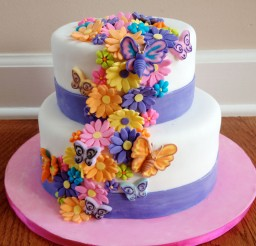1024x1055px Flower Birthday Cakes Photo Picture in Birthday Cake