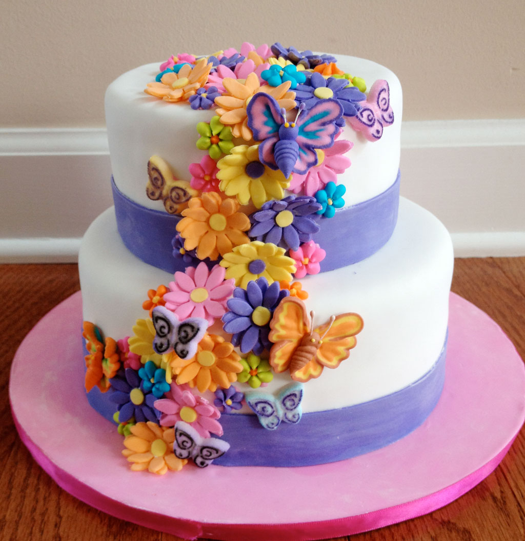 Photos Of Birthday Cake And Flowers : Flower Birthday Cakes Photo Birthday Cake - Cake Ideas by ...