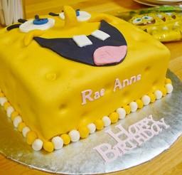 1024x576px Fondant SpongeBob Birthday Cake Design Picture in Birthday Cake