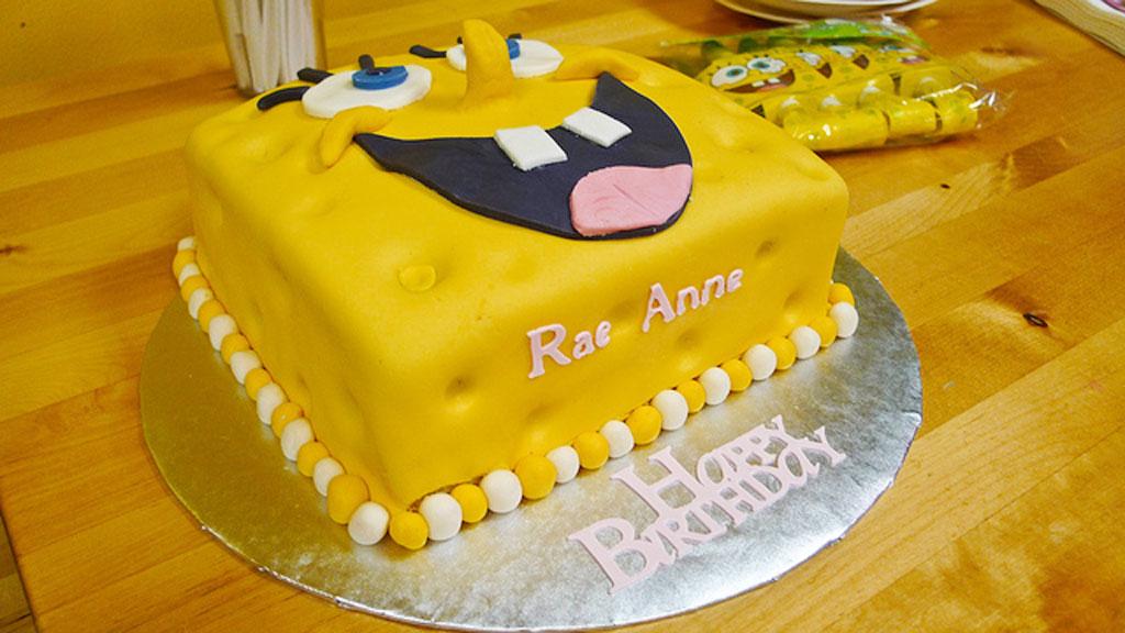 Birthday Cake Design With Fondant : Fondant SpongeBob Birthday Cake Design Birthday Cake ...