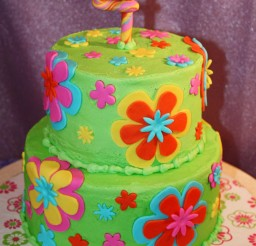 1024x1442px Fondant Flowers Birthday Cakes Picture in Birthday Cake