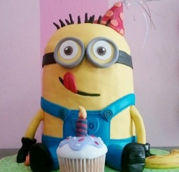 1024x1154px Fondant Minion Birthday Cakes Picture in Birthday Cake