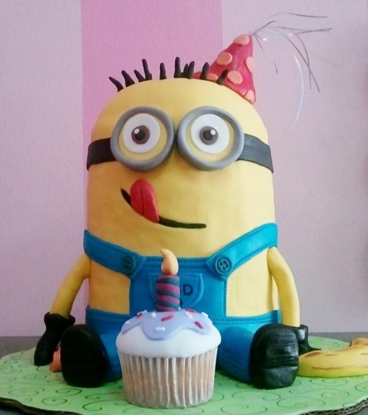 Fondant Minion Birthday Cakes Picture in Birthday Cake
