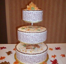 1024x1365px Funfetti Fall Wedding Cake Picture in Wedding Cake