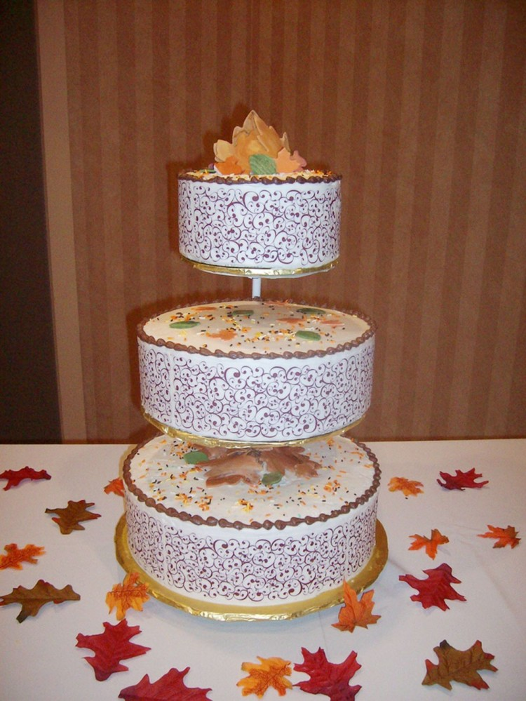 Funfetti Fall Wedding Cake Picture in Wedding Cake