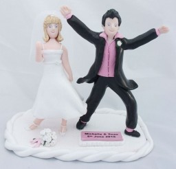 1024x940px Funny Dancing Wedding Cake Toppers Picture in Wedding Cake