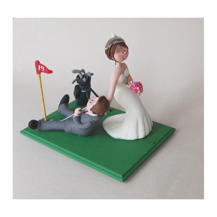 Funny Golf Wedding Cake Toppers Picture in Wedding Cake