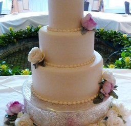 1024x1500px Garden Roses Colorado Springs Wedding Cakes Picture in Wedding Cake