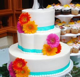 1024x1564px Gerber Daisy Wedding Cake Pictures Picture in Wedding Cake