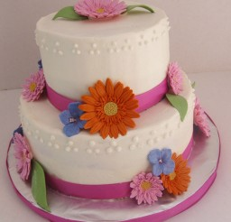 1024x1285px Gerbera Daisy Wedding Cake Topper Picture in Wedding Cake