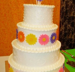 1024x1585px Gerbera Daisy Wedding Cakes Picture in Wedding Cake
