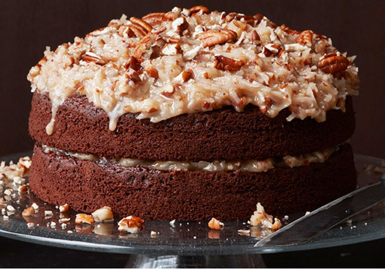 German Chocolate Cake One Layer Picture in Chocolate Cake