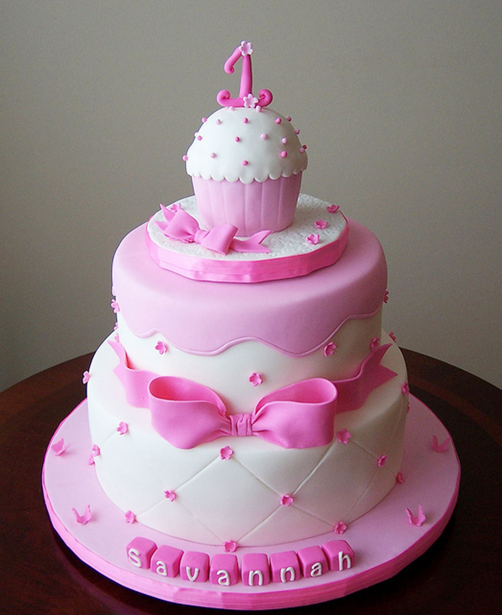 Cake Designs First Birthday : Girls 1st Birthday Cakes Birthday Cake - Cake Ideas by ...