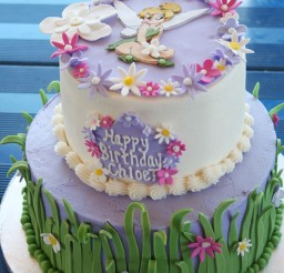 1024x1536px Grass And Flower Birthday Cake For Girl Picture in Birthday Cake