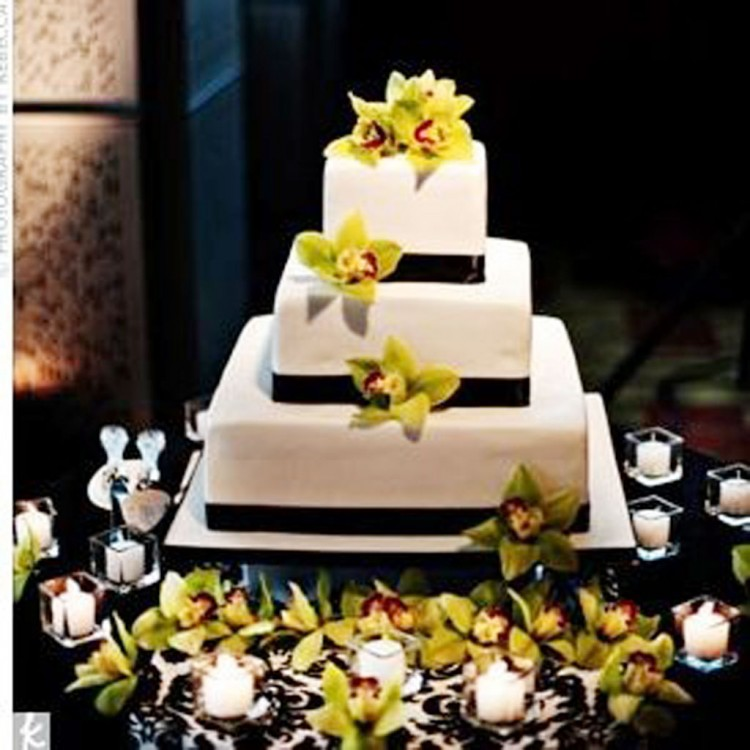 Green Orchid Wedding Ideas Picture in Wedding Cake