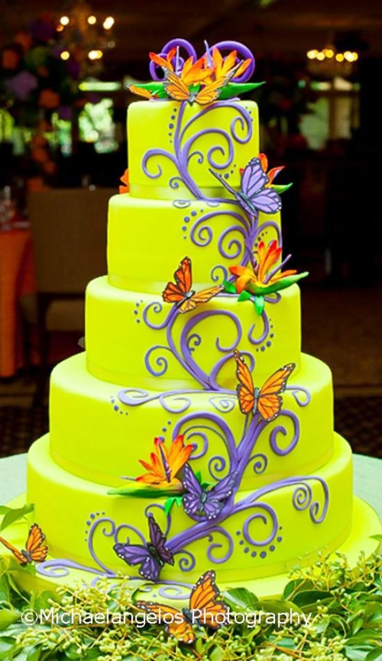 Green Wedding Cakes Picture in Wedding Cake