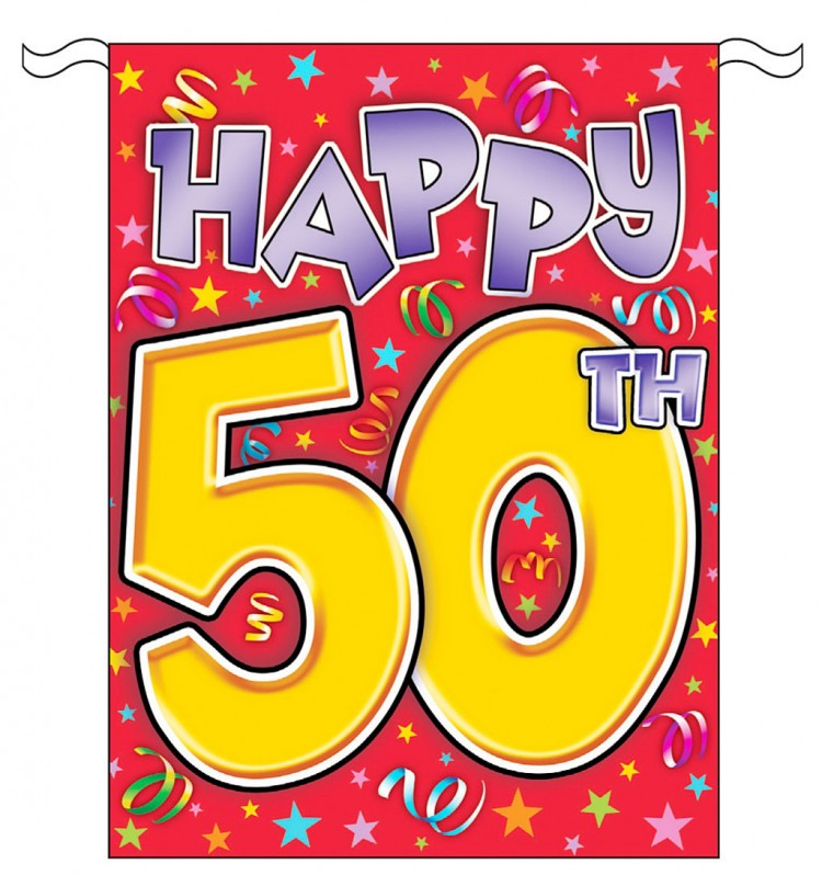 Happy 50th Birthday Clip Art Picture in Birthday Cake