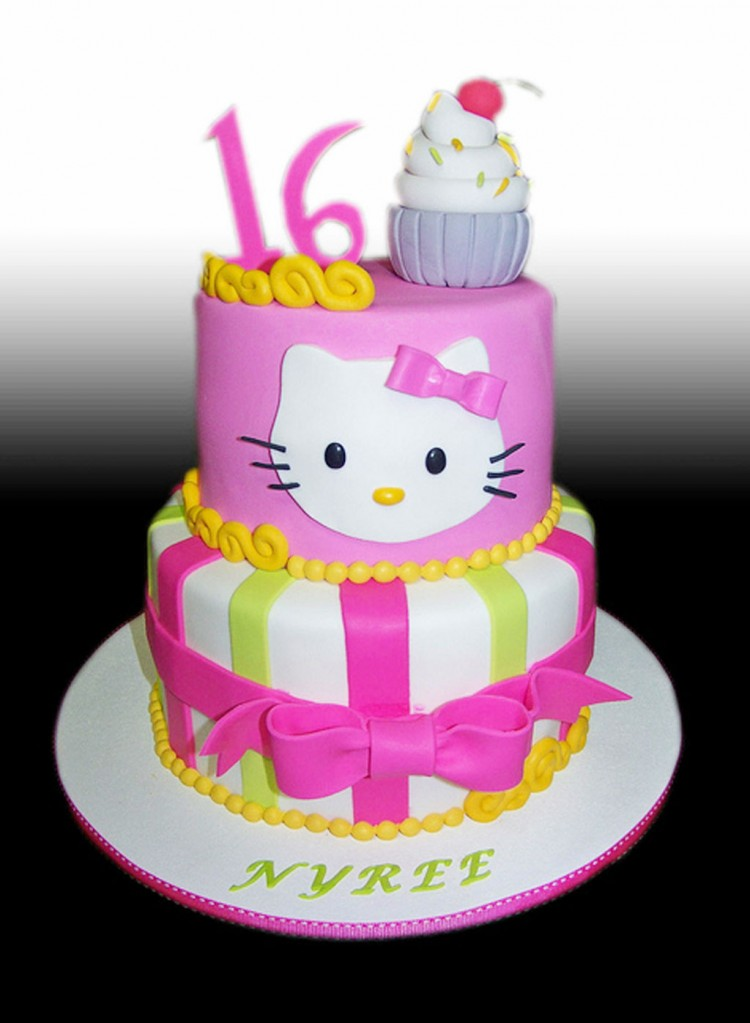 Hello Kitty Birthday Pictures Picture in Birthday Cake